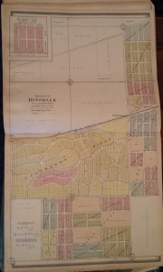 Plat Map of Clarendon Hills and West Hinsdale (later called Clarendon Hills) from 1904