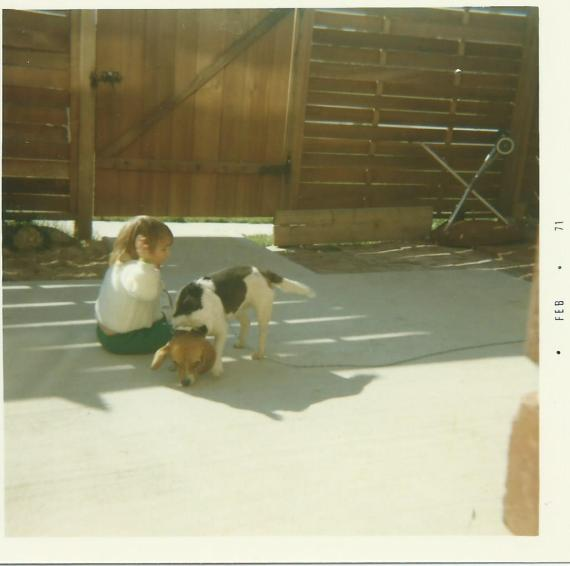Snoopy and my sister Jonna 1971
