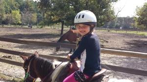Elizabeth on her horse!